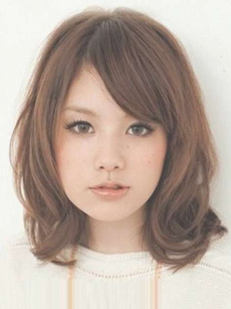 Explore Gallery Of Medium Hairstyles For Asian Round Face Showing 4