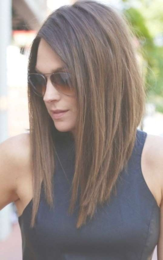 Best 25+ Medium Asymmetrical Hairstyles Ideas On Pinterest | Lob For Current Asymmetrical Medium Haircuts (View 2 of 25)
