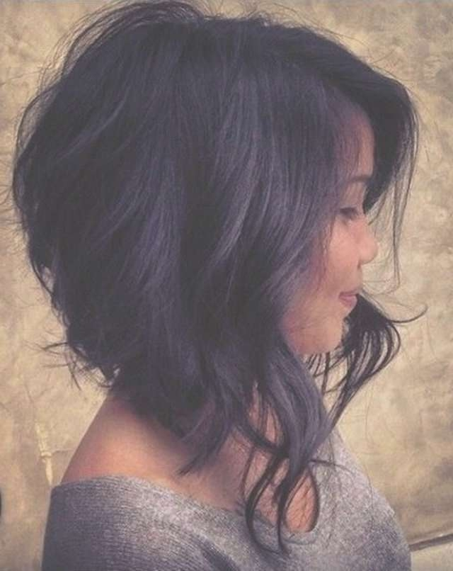 Displaying Photos Of Asymmetrical Medium Haircuts For Women View 15