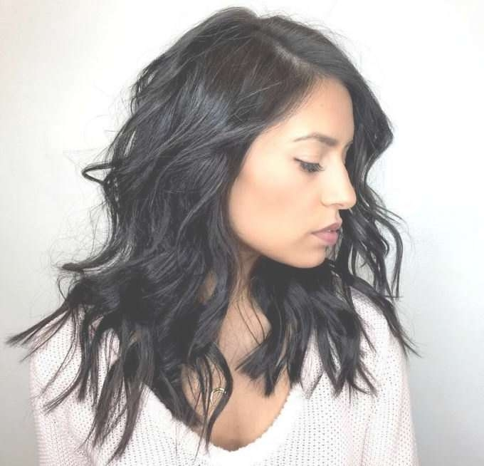 Best 25+ Medium Black Hair Ideas On Pinterest | Dark Lob, Black For Most Current Textured Medium Haircuts (View 5 of 25)