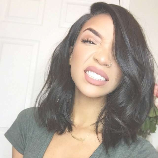 Best 25+ Medium Black Hair Ideas On Pinterest | Dark Lob, Black Intended For Best And Newest Medium Haircuts For Black Hair (View 8 of 25)