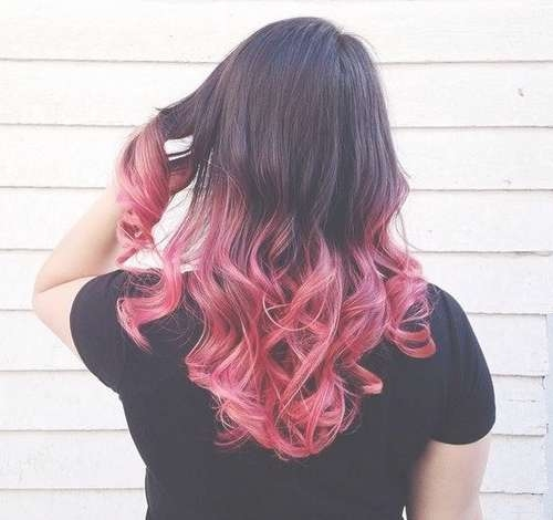 Best 25+ Medium Black Hair Ideas On Pinterest | Dark Lob, Black Intended For Latest Pink Medium Haircuts (View 15 of 25)