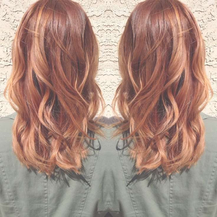 Best 25+ Medium Hair Highlights Ideas On Pinterest | Hair Inspo For Most Current Medium Haircuts With Red Color (View 23 of 25)
