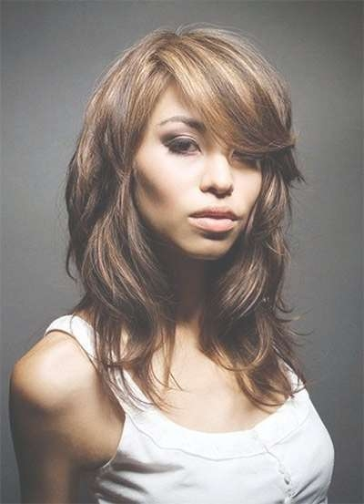 Best 25+ Medium Haircuts With Bangs Ideas On Pinterest   Hair Cuts Intended For Most Recent Medium Hairstyles With Bangs And Layers For Round Faces (View 13 of 25)