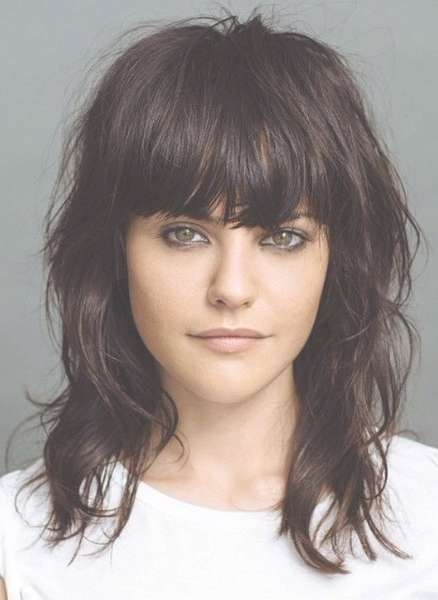 Best 25+ Medium Haircuts With Bangs Ideas On Pinterest | Hair Cuts Throughout Latest Medium Hairstyles With Fringe And Layers (View 3 of 25)