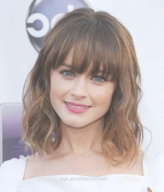 Best 25+ Medium Hairstyles With Bangs Ideas On Pinterest For Recent Medium Haircuts With Full Bangs (View 19 of 25)