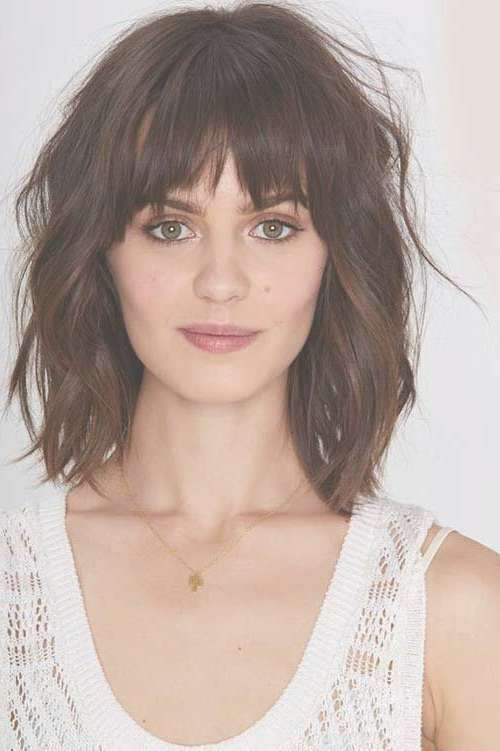 Best 25+ Medium Hairstyles With Bangs Ideas On Pinterest Inside Latest Medium Hairstyles Bangs (View 4 of 25)