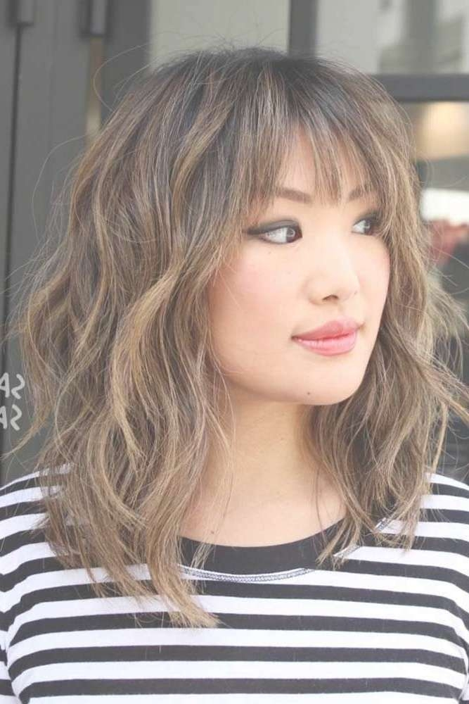 Best 25+ Medium Hairstyles With Bangs Ideas On Pinterest Pertaining To 2018 Medium Haircuts Bangs (View 8 of 25)