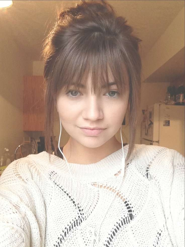 Best 25+ Medium Hairstyles With Bangs Ideas On Pinterest Pertaining To Best And Newest Medium Haircuts With Full Bangs (View 7 of 25)
