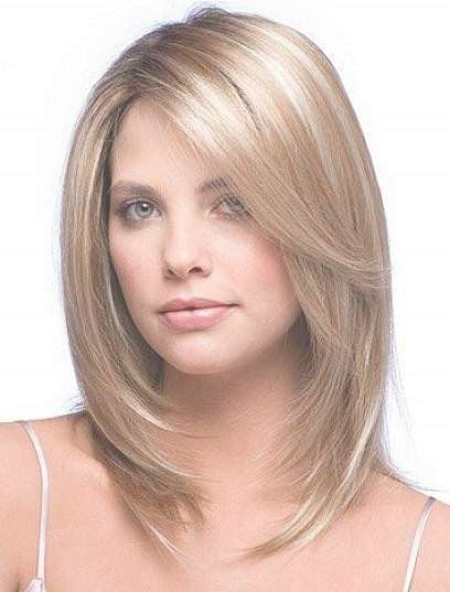 Best 25+ Medium Length Blonde Hairstyles Ideas On Pinterest Inside Newest Medium Haircuts For Blondes With Thin Hair (View 4 of 15)