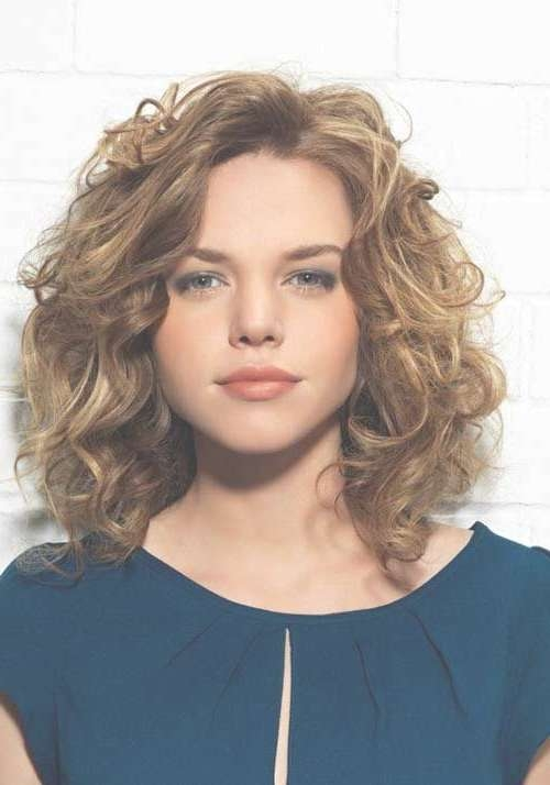 Best 25+ Medium Length Curly Hairstyles Ideas On Pinterest | Curly Regarding Most Current Medium Haircuts Curly Hair Round Face (View 10 of 25)