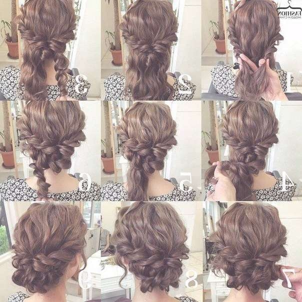 Best 25+ Medium Length Hair Updos Ideas On Pinterest | Hair Updos With Latest Medium Hairstyles For Formal Event (View 3 of 15)
