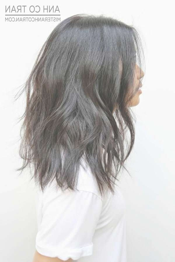 Best 25+ Medium Length Wavy Hair Ideas On Pinterest | Medium Wavy Pertaining To Best And Newest Textured Medium Haircuts (View 18 of 25)