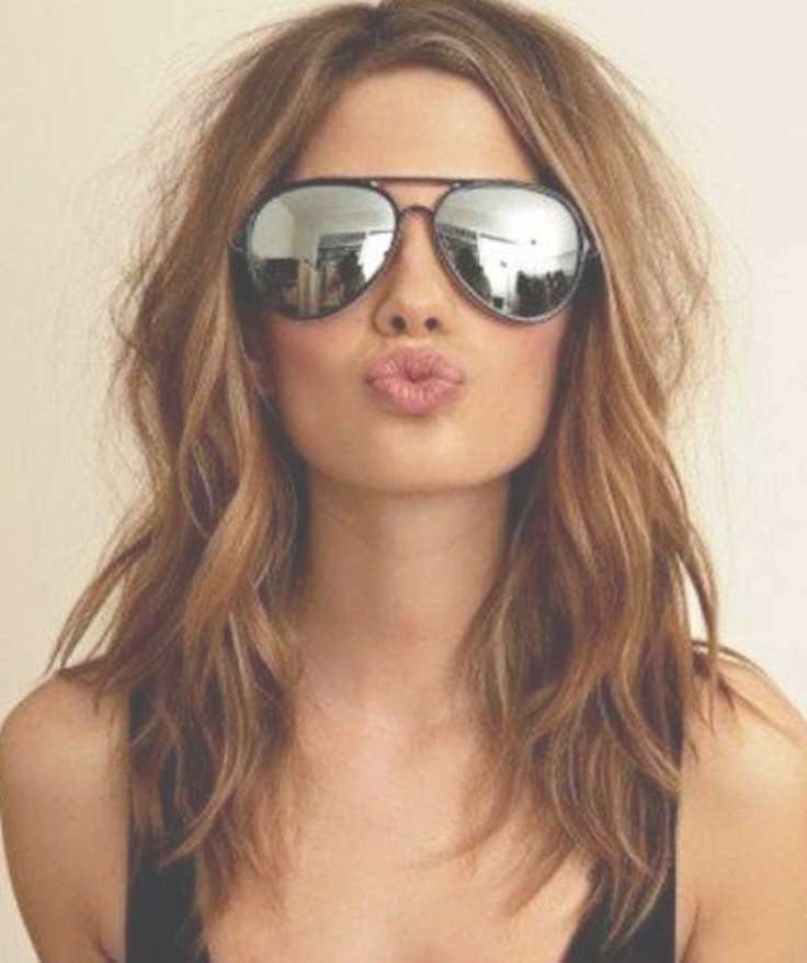 Best 25+ Medium Thick Hairstyles Ideas On Pinterest | Layers For Inside Recent Medium Haircuts For Girls With Glasses (View 7 of 25)