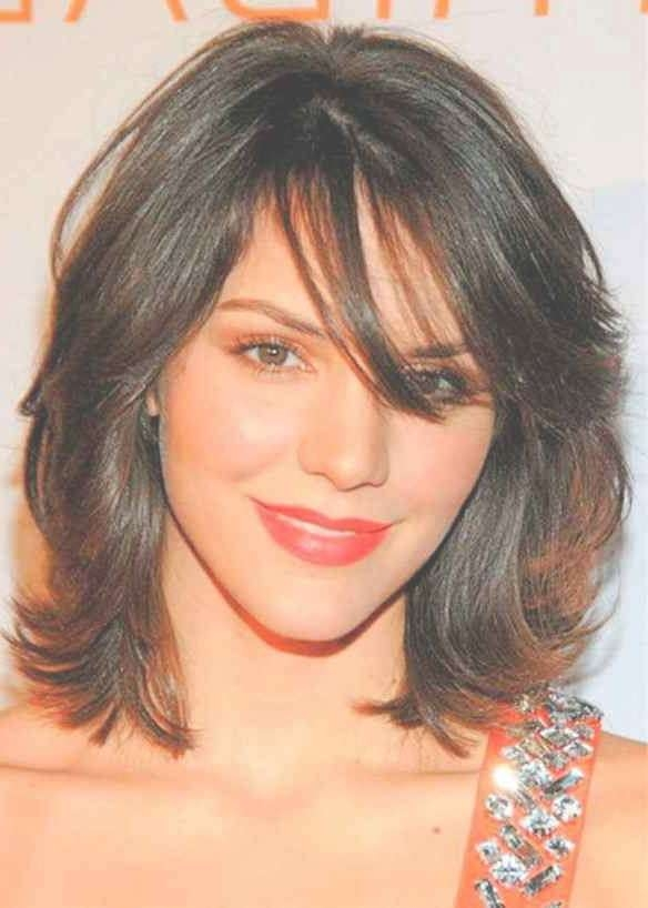 Best 25+ Medium Thin Hairstyles Ideas On Pinterest | Hairstyles Regarding Most Recently Medium Hairstyles For Round Faces And Thin Hair (View 4 of 25)
