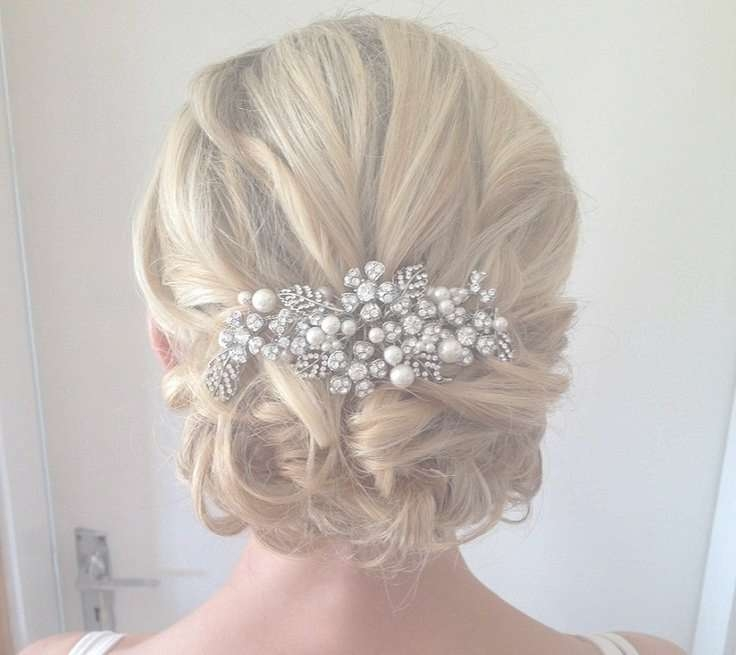 Best 25+ Medium Wedding Hair Ideas On Pinterest | Bridesmaid Hair Inside Most Up To Date Medium Hairstyles For Brides (View 20 of 25)