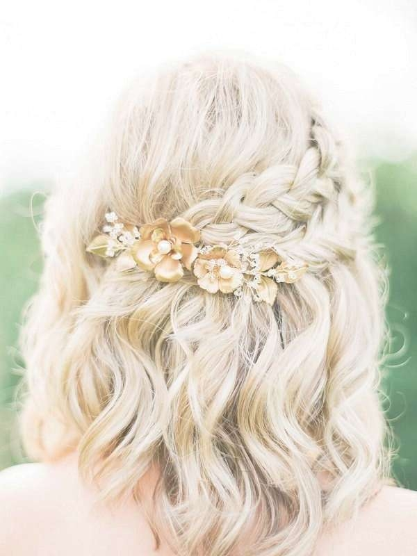 Best 25+ Medium Wedding Hair Ideas On Pinterest | Bridesmaid Hair Intended For Recent Medium Hairstyles For Brides (View 6 of 25)