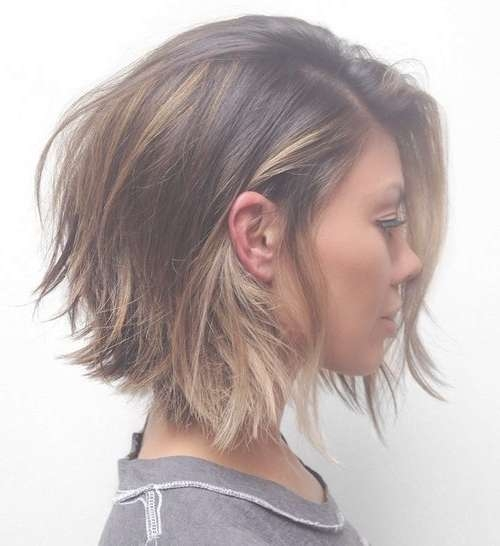 Best 25+ Messy Bob Hairstyles Ideas On Pinterest | Messy Bob Regarding 2018 Messy Medium Haircuts For Women (View 23 of 25)