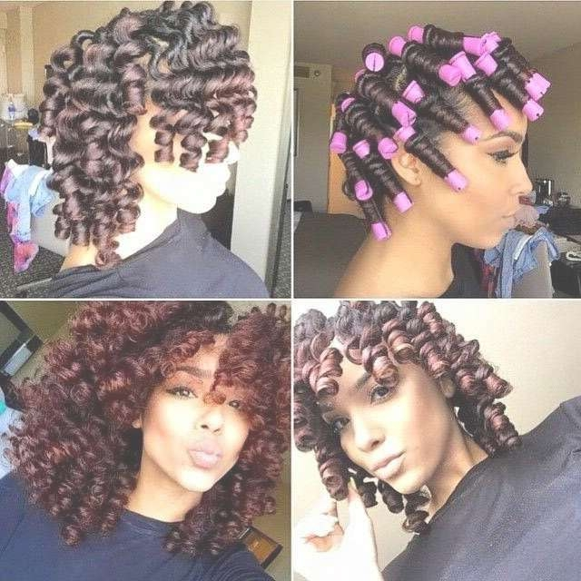 Best 25+ Perm Rods Ideas On Pinterest | Hair Rods, Protective Regarding Newest Medium Haircuts For Black Women With Natural Hair (View 20 of 25)
