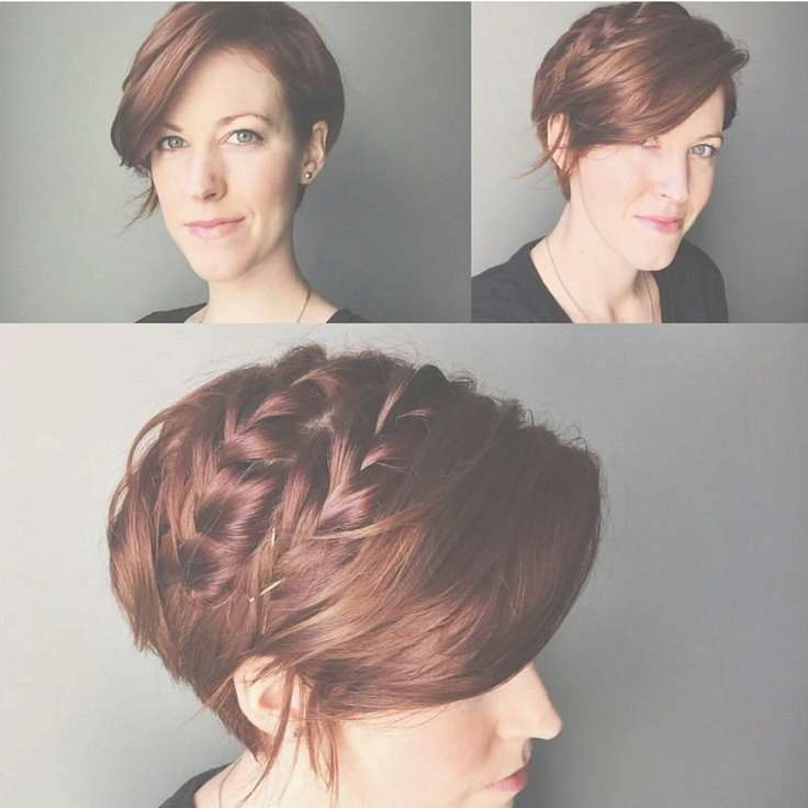 Best 25+ Pixie Braids Ideas On Pinterest | Pixie Styles, Pixie For Best And Newest Medium Hairstyles For Growing Out A Pixie Cut (View 10 of 15)