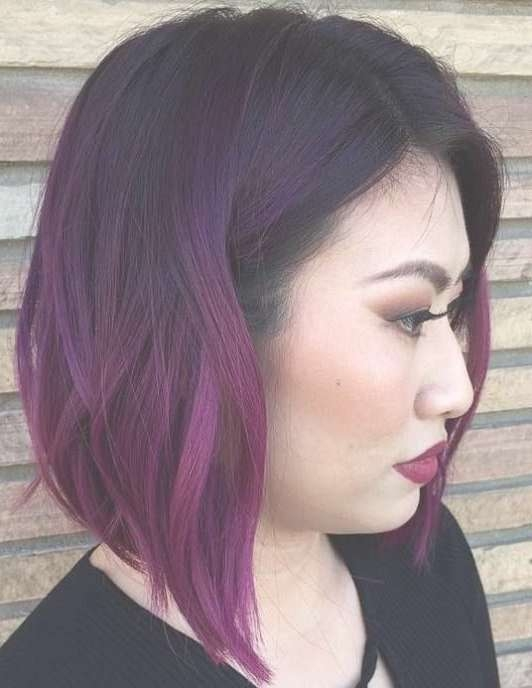 Best 25+ Purple Bob Ideas On Pinterest | Short Purple Hair, Short Inside Most Popular Purple Medium Hairstyles (View 3 of 25)