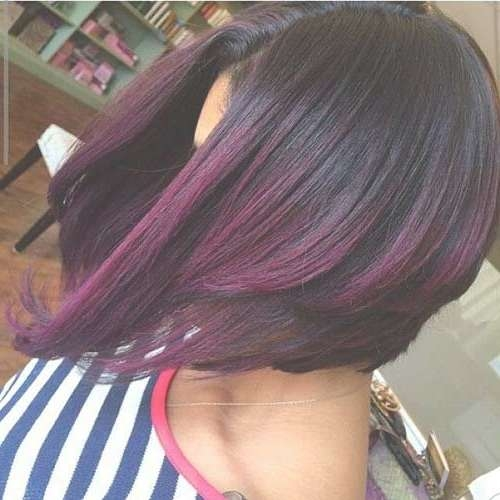 Best 25+ Purple Bob Ideas On Pinterest | Short Purple Hair, Short Intended For Most Popular Medium Hairstyles With Color For Black Women (View 4 of 15)