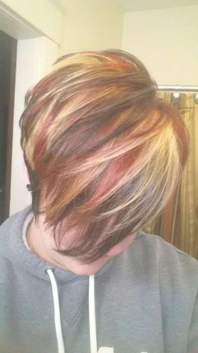 Best 25+ Red Blonde Highlights Ideas On Pinterest | Blonde Within Best And Newest Medium Haircuts With Red And Blonde Highlights (View 9 of 25)