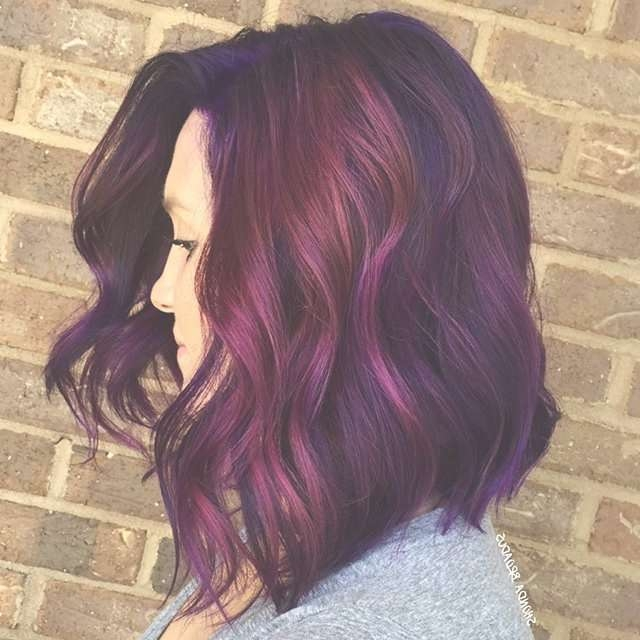 Best 25+ Red Purple Hair Color Ideas On Pinterest   Purple Throughout Most Current Purple Medium Hairstyles (View 10 of 25)