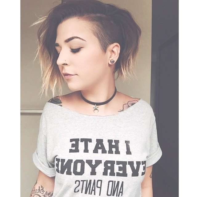 Best 25+ Shaved Bob Ideas On Pinterest   Side Cuts, Side Shave Bob Within 2018 Part Shaved Medium Hairstyles (View 8 of 15)