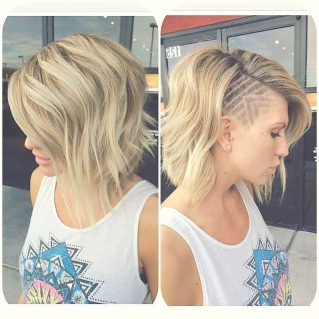 Best 25+ Shaved Designs In Hair Ideas On Pinterest | Undercut Regarding Best And Newest Side Shaved Medium Hairstyles (View 10 of 25)