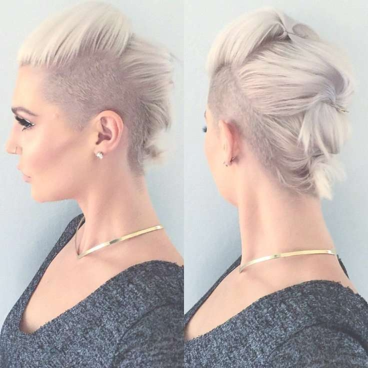 Best 25+ Shaved Sides Ideas On Pinterest | Shaved Side Hairstyles Inside Current Medium Hairstyles With Shaved Sides (View 3 of 25)