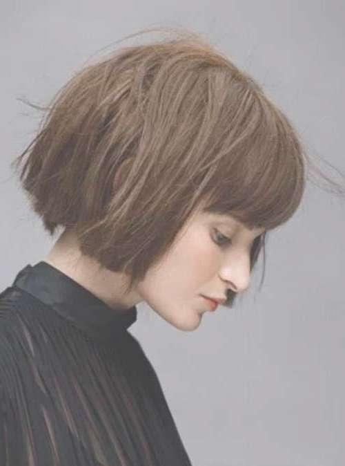 Best 25+ Short Bob With Fringe Ideas On Pinterest | Bob With Inside Full Bob Haircuts (View 8 of 25)