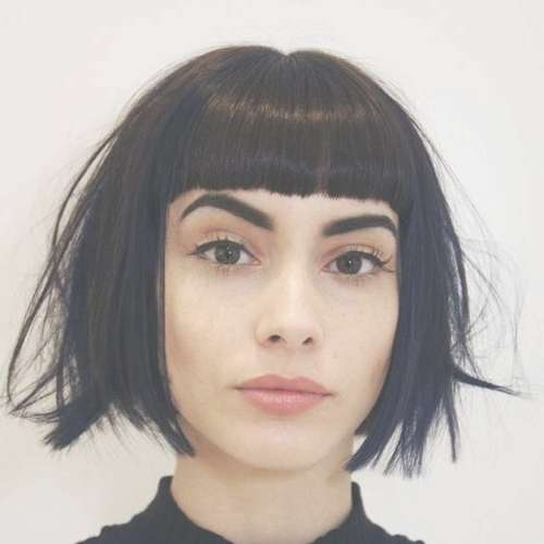 Best 25+ Short Bob With Fringe Ideas On Pinterest | Bob With With Regard To Bob Hairstyles With Bangs (View 19 of 25)