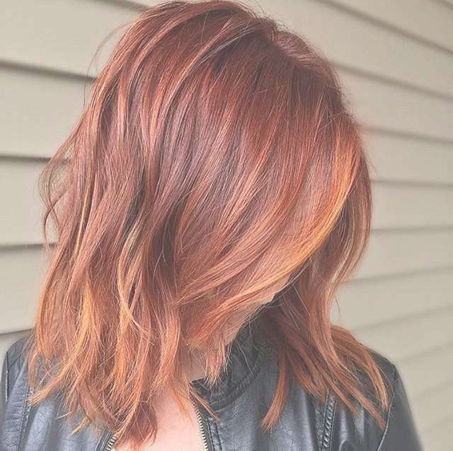 Best 25+ Short Copper Hair Ideas On Pinterest   Balayage Hair Regarding Latest Medium Haircuts With Red Color (View 11 of 25)