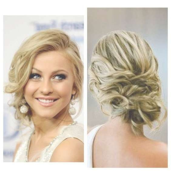 Best 25+ Short Curly Updo Ideas On Pinterest | Hair Updos Short Inside Most Up To Date Medium Hairstyles For Prom Updos (View 2 of 15)
