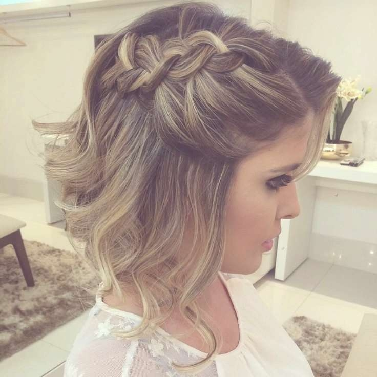 Best 25+ Short Formal Hairstyles Ideas On Pinterest | Formal Pertaining To 2018 Medium Hairstyles Formal Occasions (View 7 of 25)