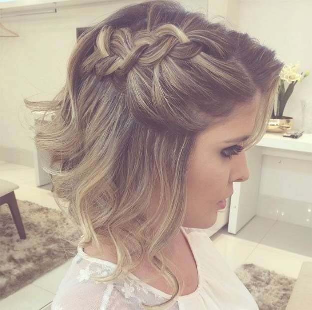 Best 25+ Short Formal Hairstyles Ideas On Pinterest | Formal Within Most Up To Date Medium Hairstyles For Evening Wear (View 3 of 25)