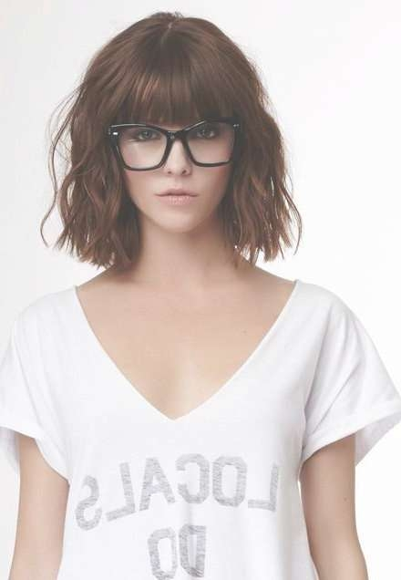 Best 25+ Short Fringe Hairstyles Ideas On Pinterest | Short Bangs Inside 2018 Medium Haircuts With Bangs And Glasses (View 10 of 25)