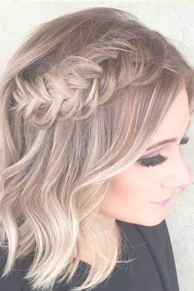 Best 25+ Short Prom Hairstyles Ideas On Pinterest | Short Hair Pertaining To Recent Medium Hairstyles For Dances (View 11 of 25)