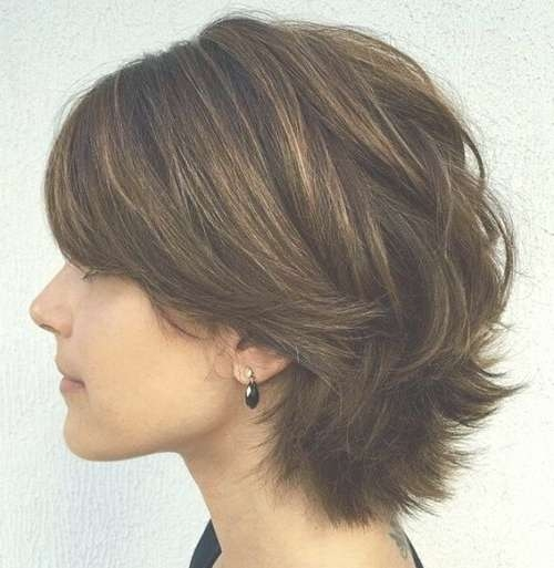 Best 25+ Short Shaggy Bob Ideas On Pinterest | Shaggy Bob For Most Current Medium Hairstyles Cut Around The Ears (View 12 of 15)