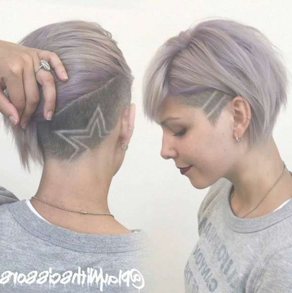 Best 25+ Side Shave Design Ideas On Pinterest | Shave Designs For Newest Medium Hairstyles Shaved Side (View 20 of 27)