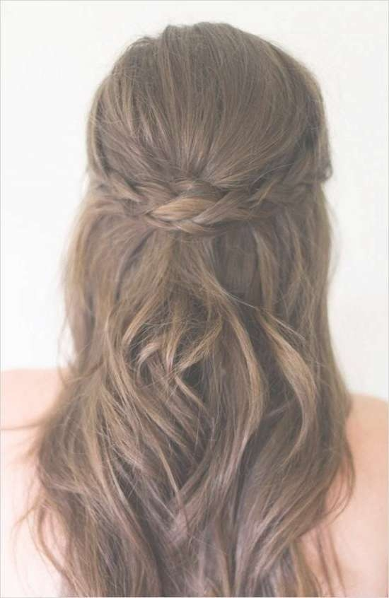Best 25+ Simple Bridesmaid Hair Ideas On Pinterest | Simple Prom For Latest Wedding Half Up Medium Hairstyles (View 13 of 25)