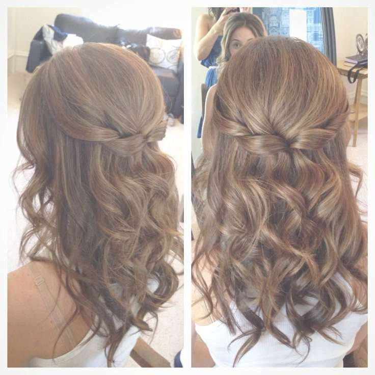 Best 25+ Simple Prom Hairstyles Ideas On Pinterest | Simple Prom Intended For 2018 Wedding Half Up Medium Hairstyles (View 23 of 25)