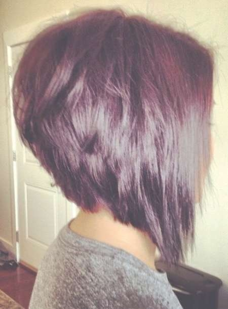 Best 25+ Stacked Inverted Bob Ideas On Pinterest | Stacked Angled Throughout Inverted Bob Haircuts (View 19 of 25)