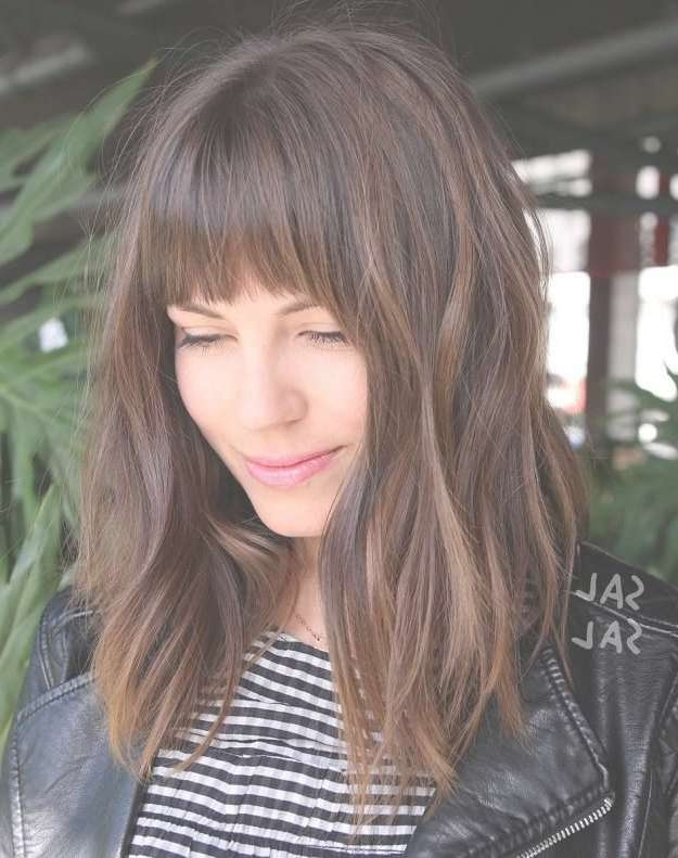 Best 25+ Straight Bangs Ideas On Pinterest | Fringe Bangs, Wispy Intended For Most Recent Medium Hairstyles With Big Bangs (View 9 of 15)