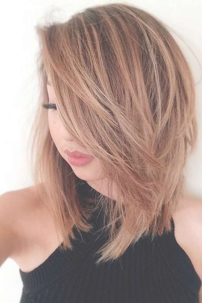 Best 25+ Thick Medium Hair Ideas On Pinterest | Fall Hair Cuts Intended For Most Recently Medium Haircuts Bobs Thick Hair (View 15 of 25)