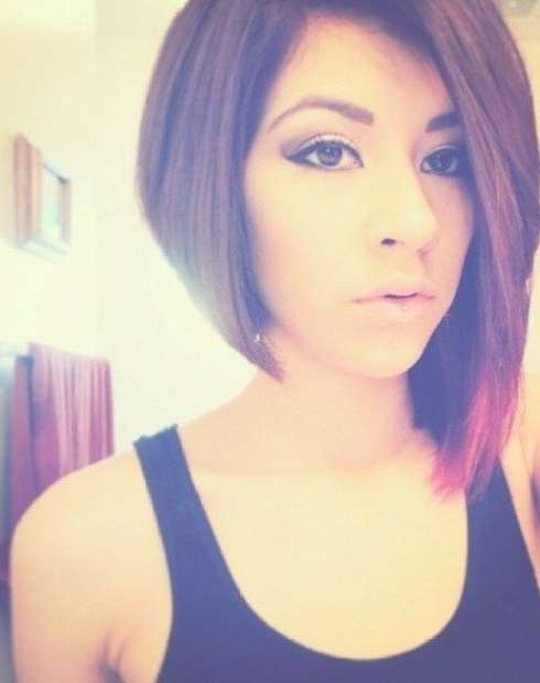 Best 25+ Uneven Bob Ideas On Pinterest | Uneven Bob Haircut Regarding Best And Newest One Side Short One Side Medium Hairstyles (View 7 of 25)