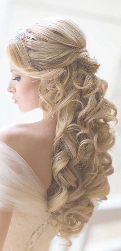 Best 25 Wedding Hairstyles Long Hair Ideas On Pinterest Long With Most Current Long Hairstyle For Wedding (View 3 of 25)