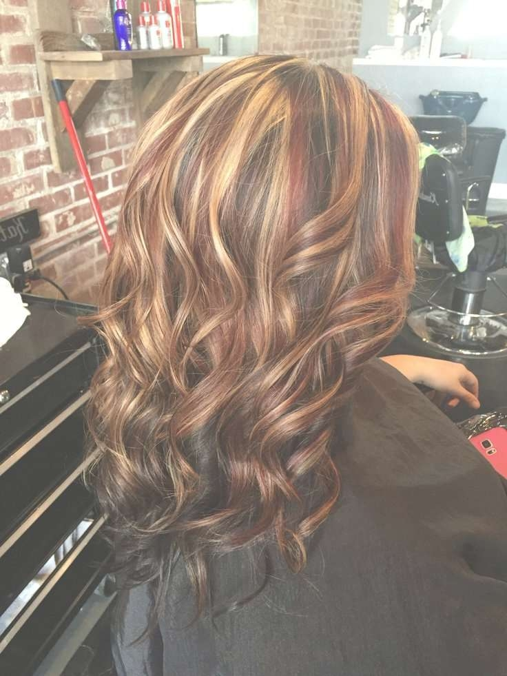 Best 25+ White Highlights Ideas On Pinterest | Blond Hair With Throughout Newest Medium Haircuts With Red And Blonde Highlights (View 18 of 25)