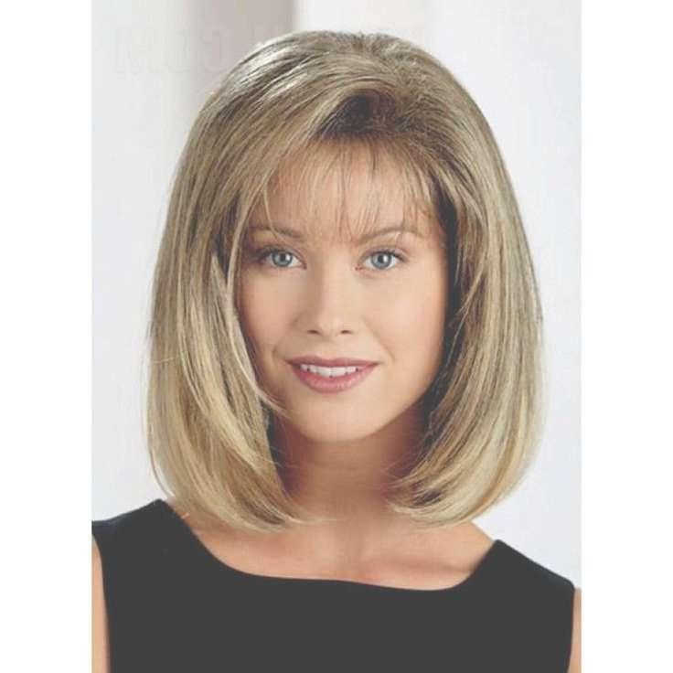 Image Gallery Of Medium Hairstyles With Wispy Bangs View 3 Of 15